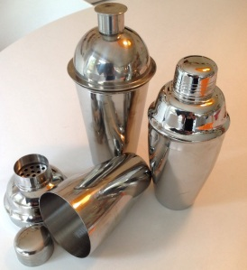 Three basic Cobbler shakers from the author's stock