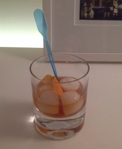 20z Old-fashioned with bourbon
