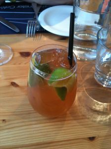 The Dark & Stormy, as mixed at the Porthminster Beach Café