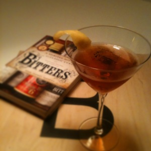 Rob Roy, made to Brad Thomas Parson's recipe in his Bitters book.