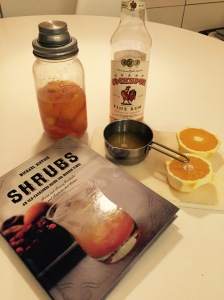 Ben Franklin's rum & orange shrub